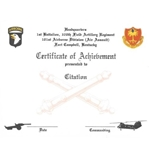 101st Airborne Division (Air Assault), Certificates