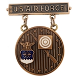 Badge, Qualification, Bronze, Excellence in Competition, Rifleman, U.S. Air Force MIL-DTL-3628/87D