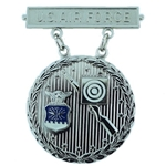 Badge, Qualification, Excellence in Competition, Rifleman, U.S. Air Force, Silver, 2nd Award, MIL-DTL-3628/85C